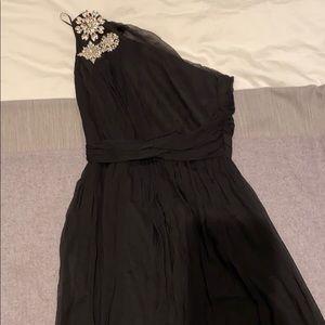 Jay Godfrey size 4 formal one shoulder black dress